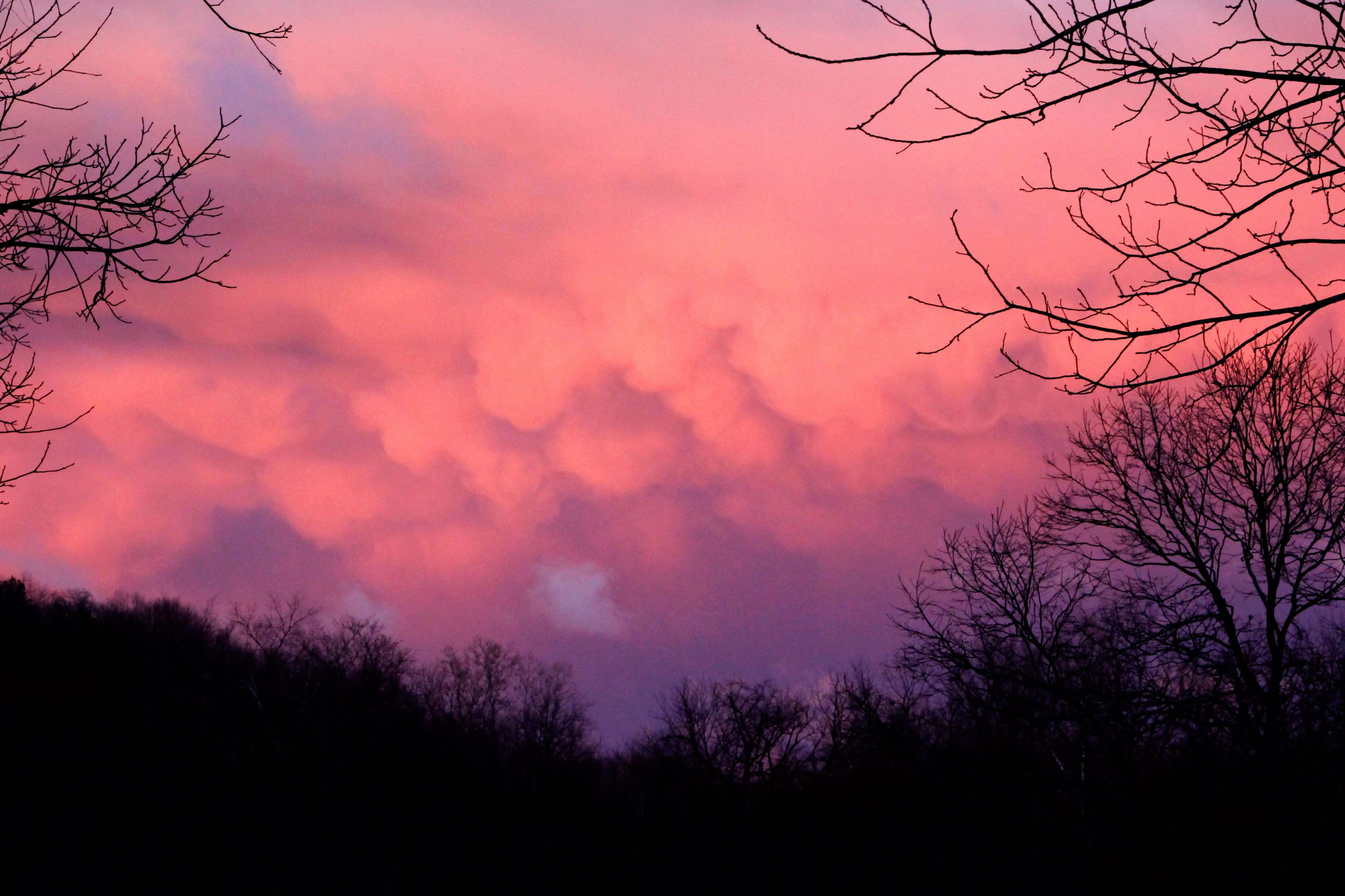 Cloud Formations at Sunset photo taken by Gail E Rowley Ozark Stream Photography