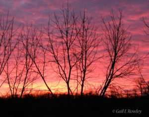 Sunrise in the Missouri Ozarks photo taken by Gail E Rowley Ozark Stream Photography