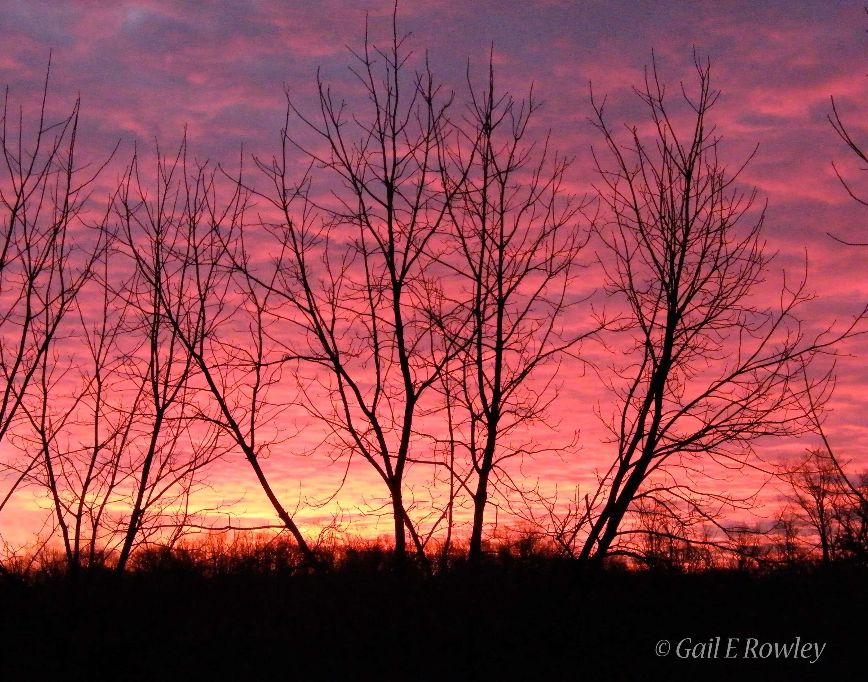 Sunrise in the Missouri Ozarks photo taken by Gail E Rowley Ozark Stream Photography