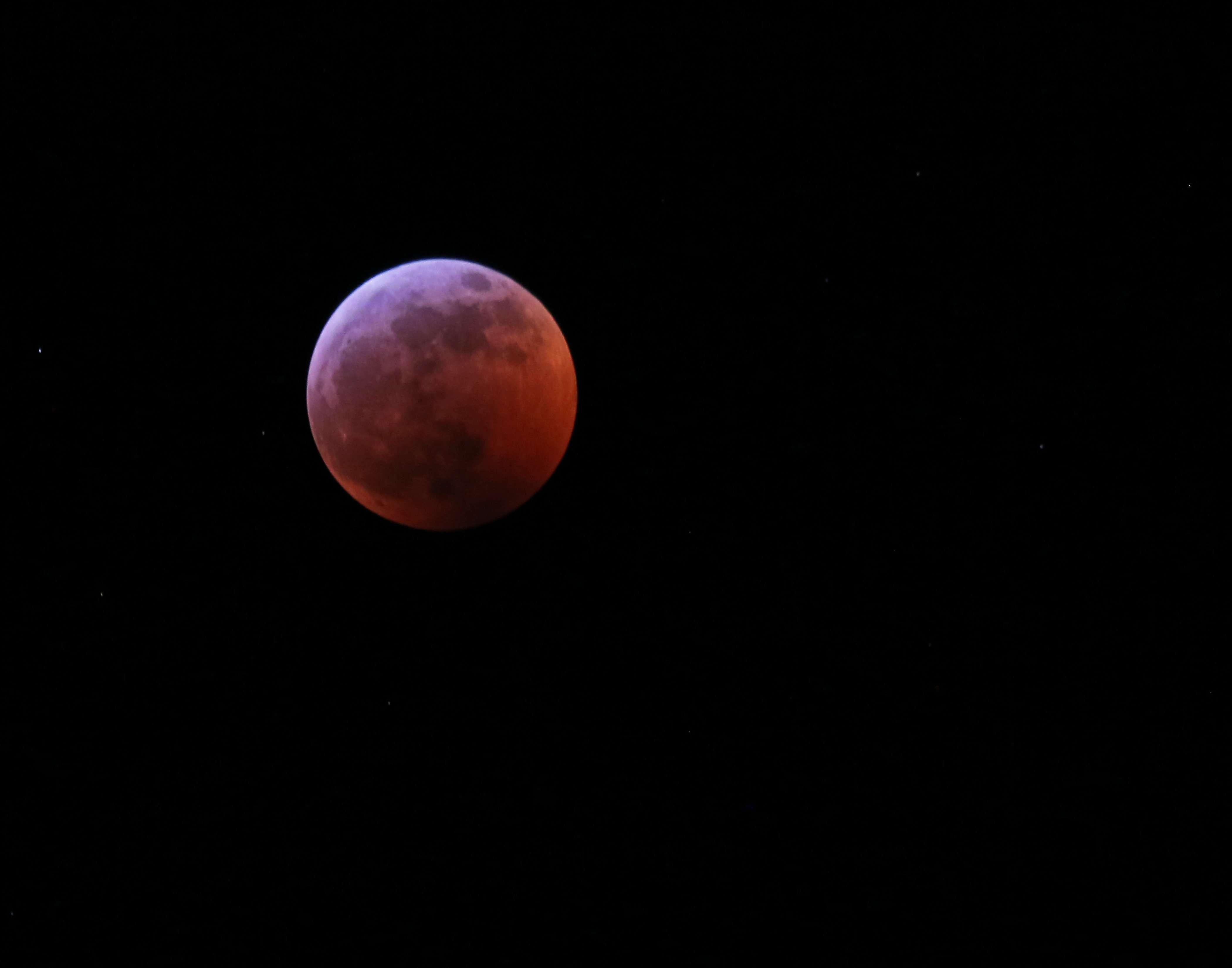 Super Moon Blood Moon Wolf Moon photo by Gail E Rowley Ozark Stream Photography