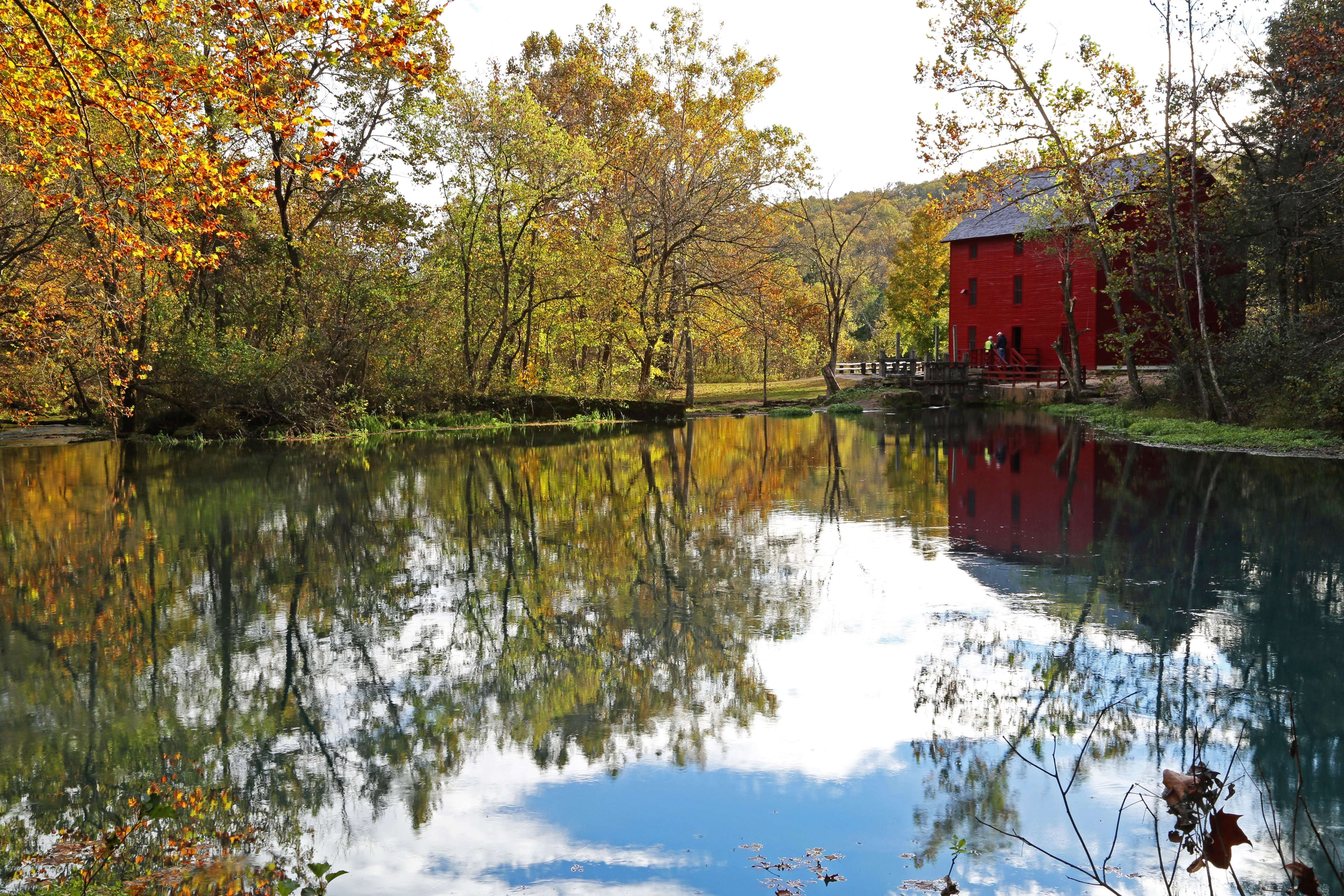Alley spring Mill in October by Ozark Stream Photography Alley Spring Mill House is a fantastic place to visit!