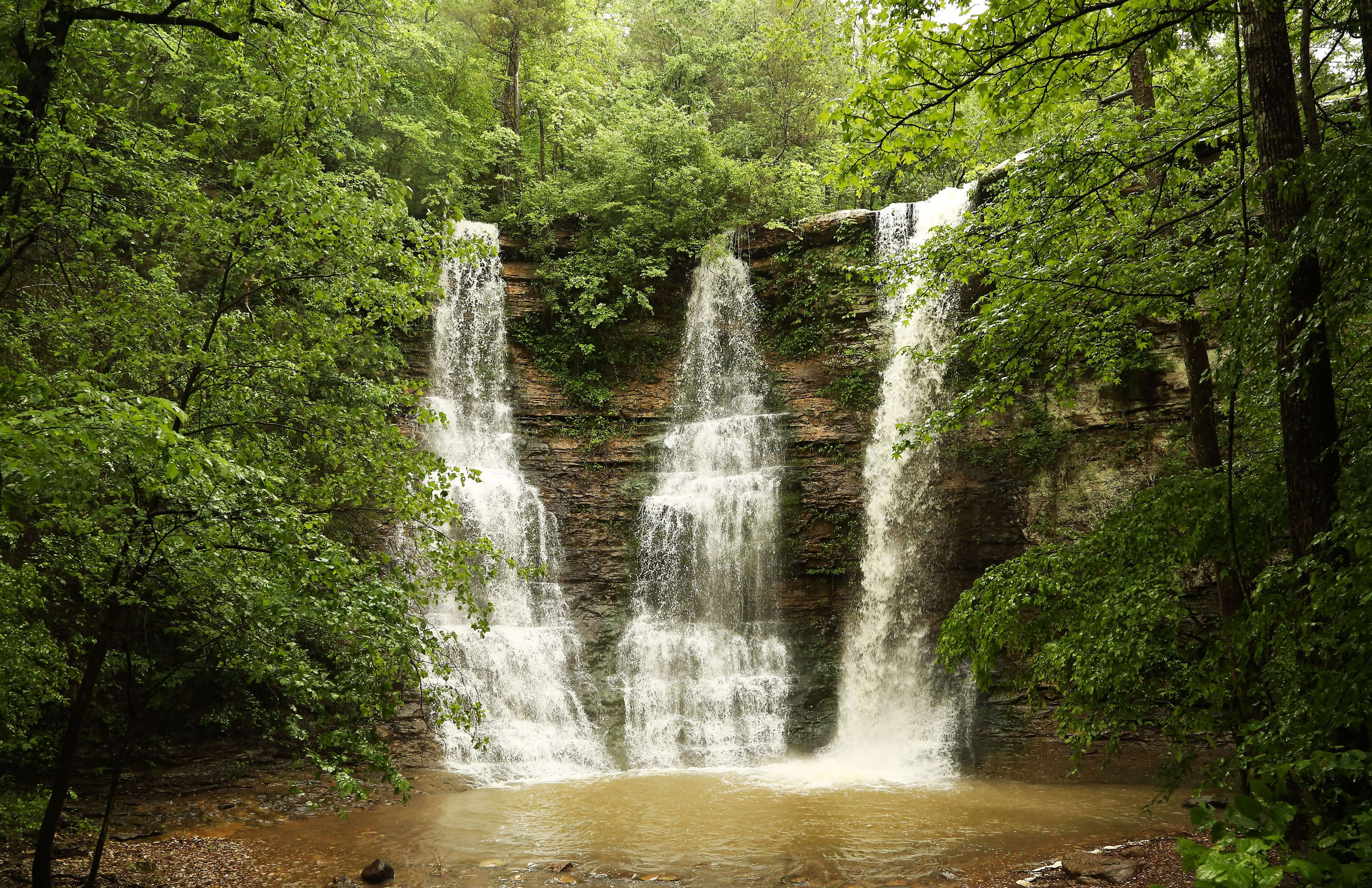 Three Falls is in the Ozarks of Arkansas photo by Gail Rowley