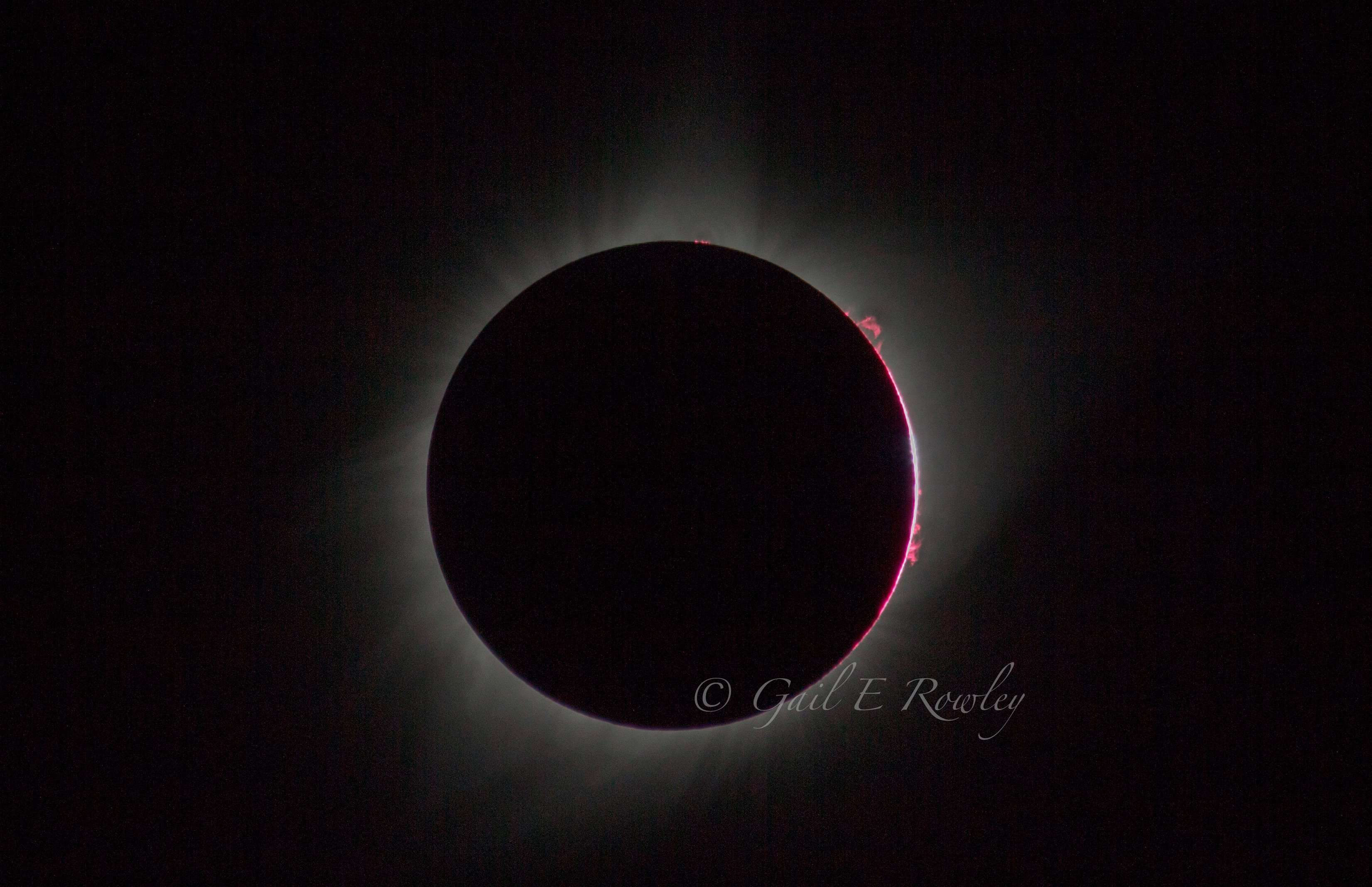 Total Solar Eclipse 2017 Prominences & Bailey's Beads photo taken by Gail E Rowley Ozark Stream Photography
