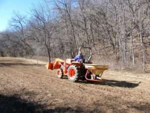 Seeding Field with Native Grasses & Forbs