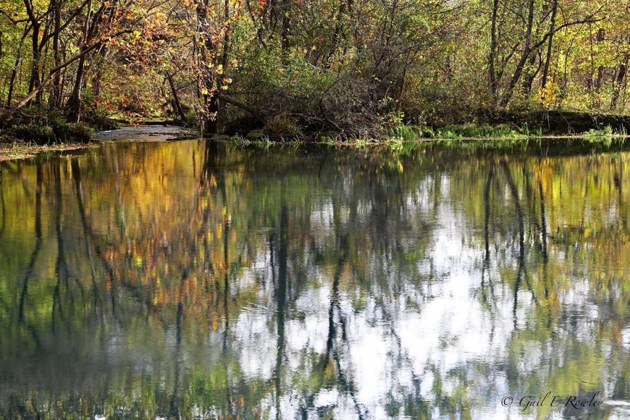 Alley Spring Mill Pond in Autumn